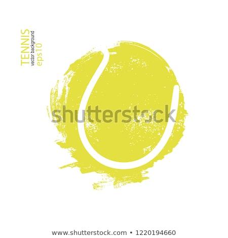 grunge · tenisz · teniszlabda · hely · fitnessz · egészség - stock fotó © burakowski