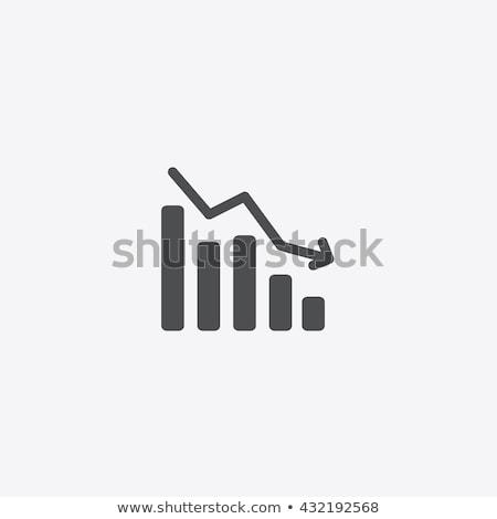 mercado · de · ações · acidente · traçar · negócio · assinar · verde - foto stock © burakowski