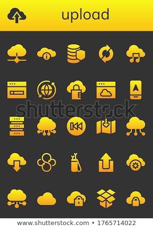 Felhő alapú technológia korábbi nyíl ikon üzlet számítógép Stock fotó © tkacchuk