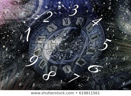 Numeri bella arte luce scienza Foto d'archivio © grechka333