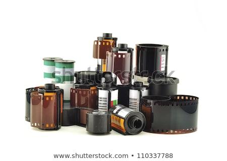 Сток-фото: старые · 35мм · фильма · камеры · белый · изолированный