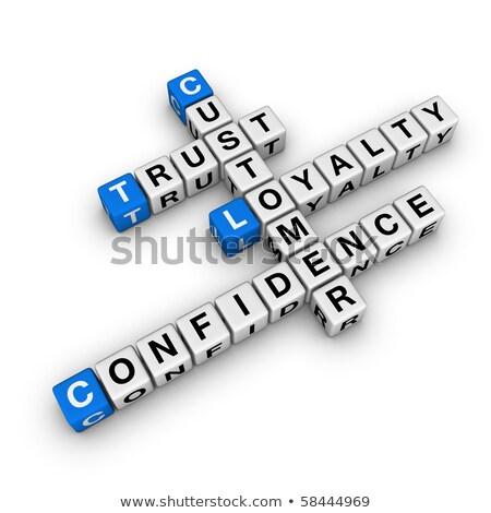 lojalność · krzyżówka · działalności · usługi · sukces - zdjęcia stock © ivelin