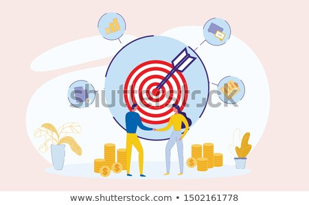 Teambuilding Concept - Hit Target. Stock photo © tashatuvango