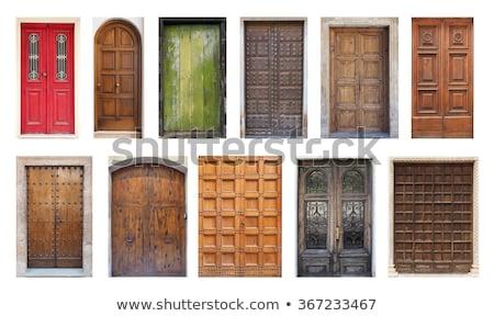 装飾された 古い 木製 ドア 金属 ストックフォト © serpla