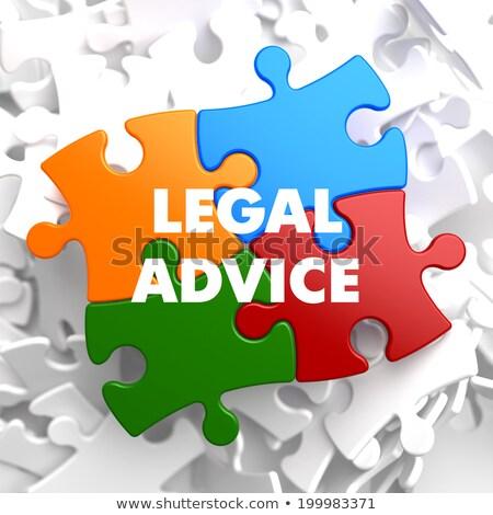 Juridische advies puzzel witte recht justitie Stockfoto © tashatuvango