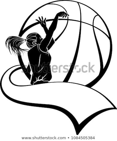 Stok fotoğraf: Basketbol · çekim · top · sepet · açık