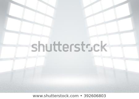 diseno · interior · escena · azul · amarillo · moderna · silla - foto stock © kash76