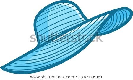 Sevimli bayan mavi kadın ofis takım elbise Stok fotoğraf © leonido