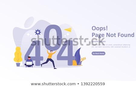 404 3D gerado quadro internet tecnologia Foto stock © flipfine