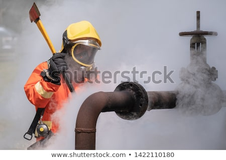 Óleo válvula sujo gotículas indústria energia Foto stock © Habman_18