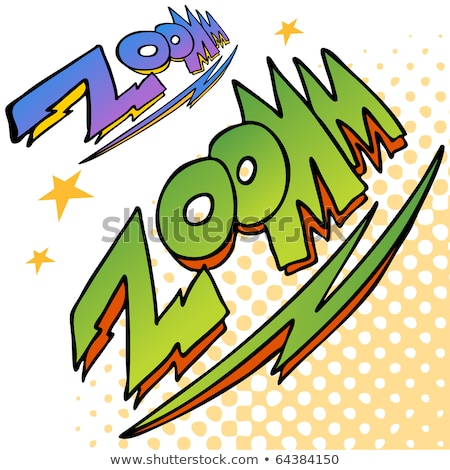 Zoom Bolt Sound Text Stock photo © cteconsulting