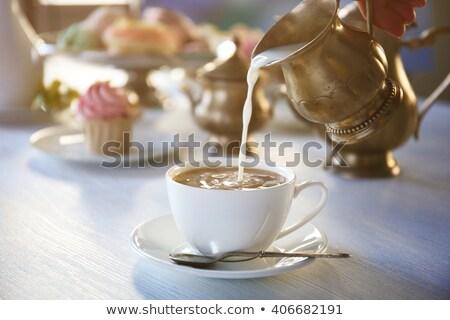 чай чайник ретро Vintage кофе Сток-фото © feelphotoart