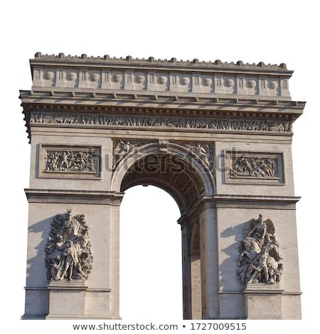 Arc · de · Triomphe · notte · piazza · Parigi · Francia · viaggio - foto d'archivio © andreykr