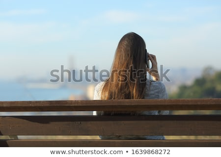 smart brunette lady with the panorama city in the background stock photo © majdansky
