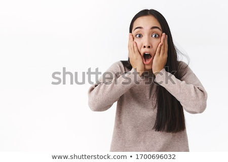Stock photo: Can't believe, what is happening?