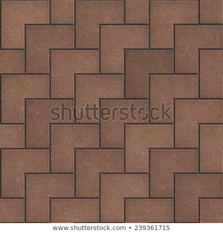 Brown Pavement in the Form of Superposed Squares. Stock photo © tashatuvango