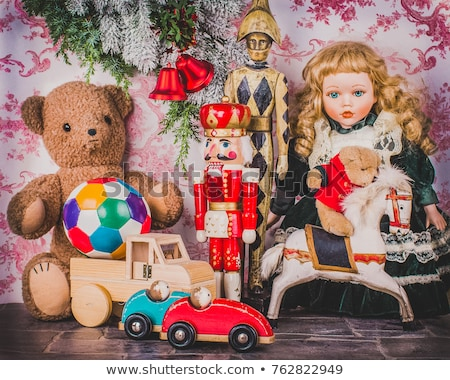 old-fashioned toys on the Christmas tree Stock photo © nikolaydonetsk