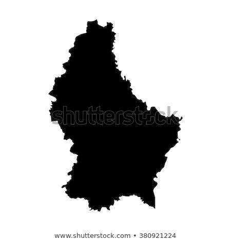 Kaart Luxemburg verschillend symbolen witte Europa Stockfoto © mayboro1964