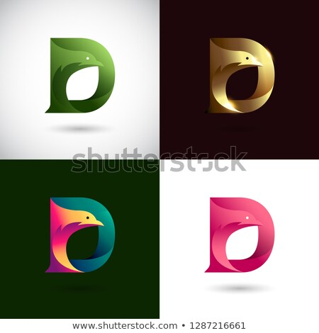 letter d logo design template elements in different colors stock photo © mcherevan