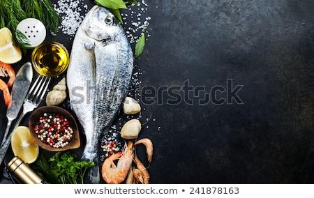 овощей · закуска · розовый · таблице · рыбы · морем - Сток-фото © godfer