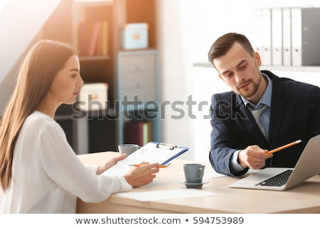 HR manager working with CV concept Stock photo © robuart