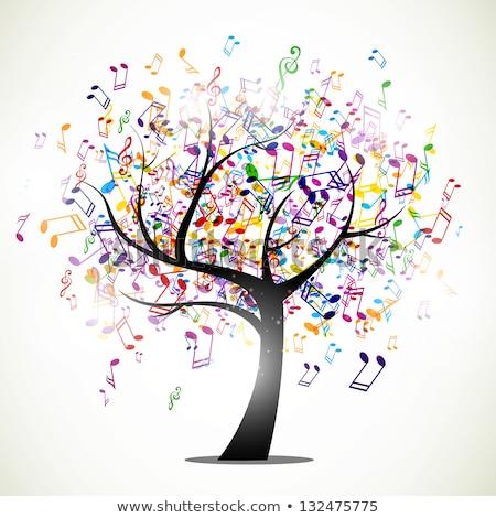 árbol · notas · musicales · vector · música · amor · corazón - foto stock © beaubelle