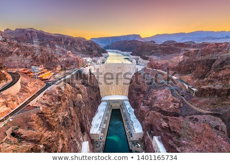 Hoover dam from above. Stock photo © Rigucci
