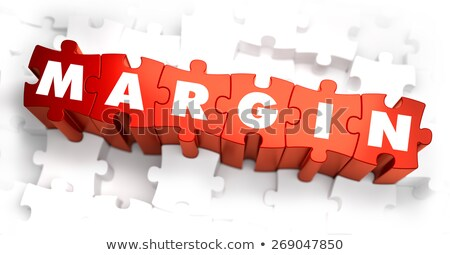 Margin - Text on Red Puzzles. Stock photo © tashatuvango