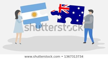 Австралия Аргентина флагами головоломки вектора изображение Сток-фото © Istanbul2009