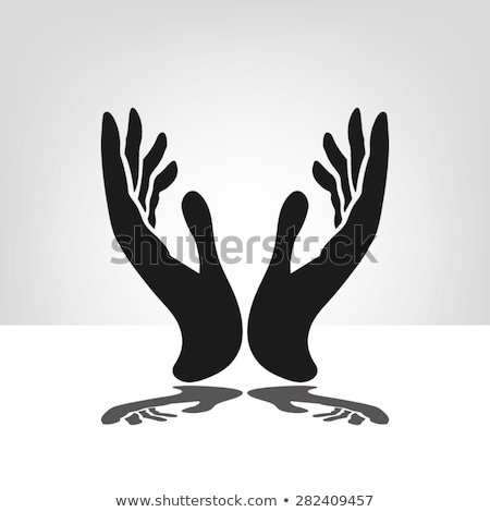 woman silhouette with hand gesture praying stock photo © Istanbul2009