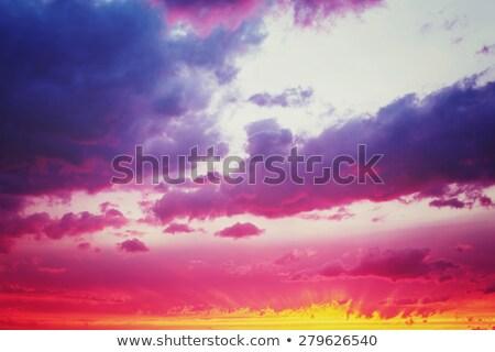 Vanilya fantastik dramatik gün batımı gökyüzü harika Stok fotoğraf © dariazu