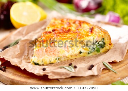 home pie with verdure and salmon Stock photo © fanfo