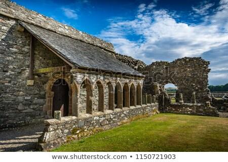 Apátság Skócia romok középkori Isten vallás Stock fotó © photopb