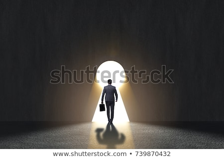Kapıyı açmak kariyer soru giriş çıkmak Stok fotoğraf © Lightsource