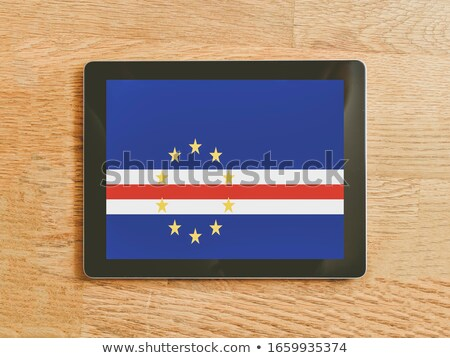Tablet with Cape Verde flag Stock photo © tang90246