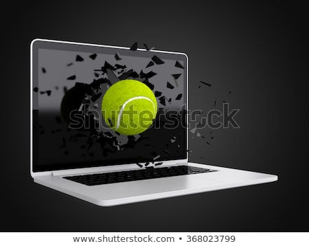 tennis ball destroy laptop Stock photo © teerawit