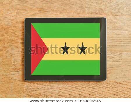 Tablet with Sao Tome and Principe flag Stock photo © tang90246