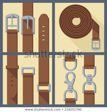 four leather belt with buckles Stock photo © RuslanOmega