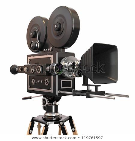 przestarzały · kamery · wideo · film · wideo · czarny · biały - zdjęcia stock © caimacanul