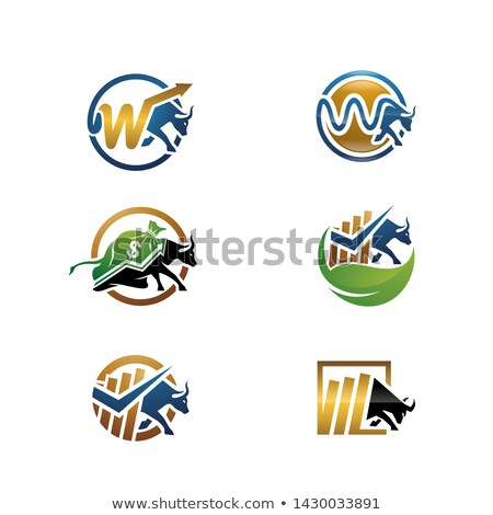 Finance forex étiquettes logo design Photo stock © netkov1