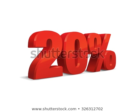 red sign 20 percent Stock photo © kash76