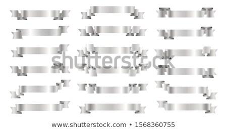 plata · cinta · desplazamiento · papel · arte · signo - foto stock © krisdog