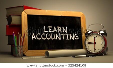 hand drawn learn accounting concept on chalkboard stock photo © tashatuvango