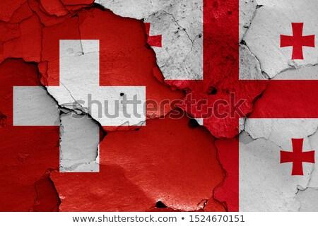 Швейцария Грузия флагами головоломки изолированный белый Сток-фото © Istanbul2009