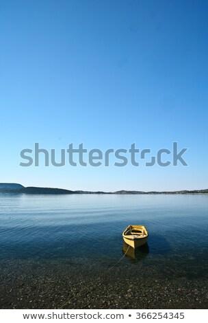 łodzi rano mgły Grecja Zdjęcia stock © jeancliclac