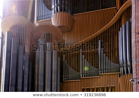 Beautiful wood organ detail Stock photo © frescomovie