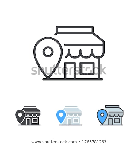 store location icon flat design stock photo © wad