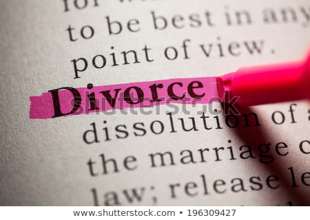 Divorce Red Marker Stock photo © ivelin