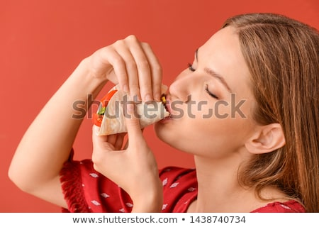 girl with tacos Stock photo © adrenalina