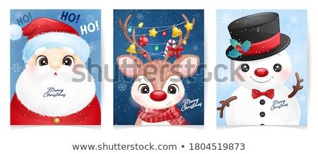 ребенка · девушки · рисунок · снеговик · счастливым - Сток-фото © bubutu